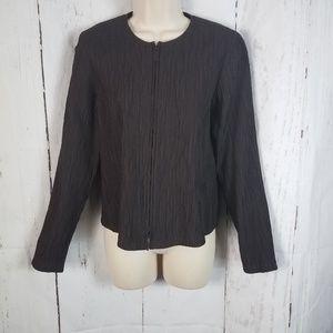 Eileen Fisher xs Lightweight Zip Jacket Textured